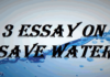 Essay on Save Water for Students and Children